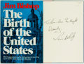Books:Americana & American History, Jim Bishop. INSCRIBED. The Birth of the United States. NewYork: William Morrow, 1976. First edition. Inscribed by...
