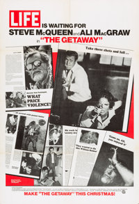 "The Getaway (National General, 1972). One Sheet (27"" X 41"") Life Magazine Advance Style"