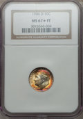 Roosevelt Dimes, 1946-D 10C MS67 ★ Full Bands NGC. NGC Census: (132/2). PCGS Population (85/1). Mintage: 61...