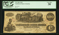 Confederate Notes:1862 Issues, Bank of Columbus Stamp T39 $100 1862.. ...