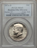 Kennedy Half Dollars: , 1974-D 50C Doubled Die Obverse MS65 PCGS. PCGS Population (81/8)....