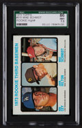 Baseball Cards:Singles (1970-Now), 1973 Topps Mike Schmidt/Cey Rookie #615 SGC 86 NM+ 7.5. ...