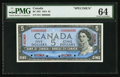 Canadian Currency: , BC-39S $5 1954 Specimen. ...