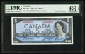 Canadian Currency: , BC-39a-i $5 1954 Serial Number 7. ...