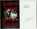 Books:Americana & American History, [Civil Rights]. Andrew Young. SIGNED. An Easy Burden. NewYork: Harper Collins, [1996]. First edition. Signed by t...