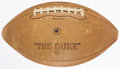Football Collectibles:Balls, 1957 Green Bay Packers Team Signed Football....