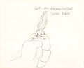Animation Art:Production Drawing, Chuck Jones The Abominable Snow Rabbit Concept Sketch (Warner Brothers, 1961)....