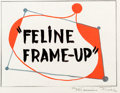 Animation Art:Production Drawing, Feline Frame Up Title Card Production Drawing (WarnerBrothers, 1954)....