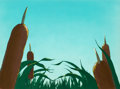 Animation Art:Production Cel, What Makes Daffy Duck? Production Title Cel Background(Warner Brothers, 1948)....