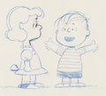 Animation Art:Production Drawing, Peanuts for Ford Falcon Lucy and Linus Production DrawingGroup (Bill Melendez/Playhouse Pictures, 1959-61).... (Total: 6Items)