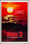 """Movie Posters:Horror, Jaws 2 (Universal, 1978). Advance One Sheet (27"""" X 41""""). Just when you thought is was safe to go back in the water! This sen..."""