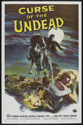"Movie Posters:Horror, Curse of the Undead (Universal International, 1959). One Sheet (27"" X 41""). The first horror western had a mysterious gunsli..."