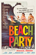 "Movie Posters:Comedy, Beach Party (American International, 1963). One Sheet (27"" X 41"").Teen idol Frankie Avalon and former Mouseketeer Annette F..."