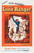 "Movie Posters:Western, Lone Ranger, The (Warner Brothers, 1956). One Sheet (27"" X 41"")Clayton Moore became synonymous with the role of the Lone Ra..."