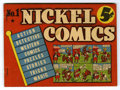 """Golden Age (1938-1955):Miscellaneous, Nickel Comics #1 (Dell, 1938) Condition: VF-. A very rare copy of the pocket-sized Dell one-shot. Measuring 7.5"""" x 5.5"""" and ..."""