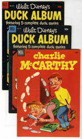 Golden Age (1938-1955):Miscellaneous, Four Color Group (Dell, 1952-61). Includes #445 (Charlie McCarthy, VF-), 450 (Duck Album, VG+, Carl Barks cover), 492 (Duck ... (Total: 8 Comic Books)