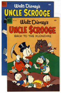 "Four Color #456 and 495 File Copies Group (Dell, 1953). This pair of Uncle Scrooge issues includes #456 (VF, ""Back..."