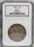 Bust Half Dollars: , 1808/7 50C AU55 NGC. O-101, R.1. A popular Guide Bookvariety represented by just one Overton marriage. Deep dove-gray...