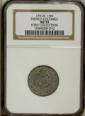 """Colonials: , 1751-A SOU M French Colonies Sou Marque AU55 NGC. Vlack-31, R.6.Breen-405, """"Extremely rare."""" ..."""