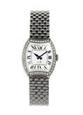 Timepieces:Wristwatch, Bedat & Co., Lady's Diamond, Stainless Steel Bracelet Wristwatch, Modern. Case: 24 mm, stainless steel, bezel is set with ...