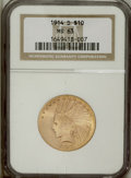 Indian Eagles: , 1914-D $10 MS63 NGC. This lustrous representative is nicely struckand has a remarkably smooth obverse field. Only a small ...