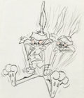Animation Art:Production Drawing, Baton Bunny Bugs Bunny Production Drawing (Warner Brothers,1959)....