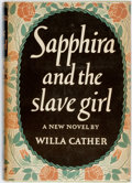 Books:Literature 1900-up, Willa Cather. ADVANCE COPY. Sapphira and the Slave Girl. NewYork: Knopf, 1940. First edition. Publisher's cloth and...