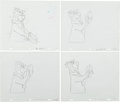 Animation Art:Production Drawing, Yogi Bear TV Commercial Production Drawings Sequence(Hanna-Barbera, 1976).... (Total: 52 Items)