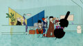 Animation Art:Production Cel, When Magoo Flew Production Cel and Background (UPA,1954).... (Total: 2 Original Art)