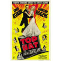 "Movie Posters:Musical, Top Hat (RKO, R-1953). One Sheet (27"" X 41""). This Fred Astaire -Ginger Rogers film revolves around mistaken identity, thre..."