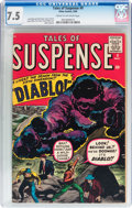 Silver Age (1956-1969):Horror, Tales of Suspense #9 (Marvel, 1960) CGC VF- 7.5 Cream to off-whitepages....