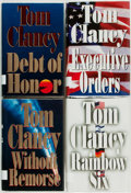 Books:Mystery & Detective Fiction, Tom Clancy. Group of Four First Editions. New York: Putnam's,[various dates]. Publisher's bindings and original dust jacket...(Total: 4 Items)