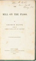 Books:Literature Pre-1900, George Eliot. The Mill on the Floss. New York: Harper, 1860.Octavo. Green cloth with leather spine label. Spine lab...