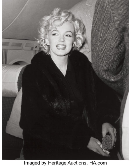KASHIO AOKI (Japanese, 20th Century) DiMaggio/Monroe Honeymoon, Tokyo, 1954 Black and white photograph, 2001 9-3/4 x ...