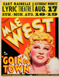 """Movie Posters:Comedy, Goin' to Town (Paramount, 1935). Jumbo Window Card (22"""" X 28"""")....."""