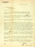 Autographs:Authors, A. Edward Newton (1864-1940, American author, publisher and avidbook collector) Typed Letter Signed, with Manuscript Correcti...