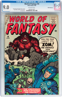 World of Fantasy #18 White Mountain pedigree (Atlas, 1959) CGC VF/NM 9.0 Off-white pages