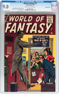 World of Fantasy #7 White Mountain pedigree (Atlas, 1957) CGC VF/NM 9.0 Off-white to white pages