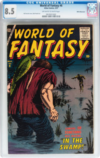 World of Fantasy #6 White Mountain pedigree (Atlas, 1957) CGC VF+ 8.5 Off-white to white pages