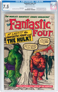 Silver Age (1956-1969):Superhero, Fantastic Four #12 (Marvel, 1963) CGC VF- 7.5 Cream to off-white pages....