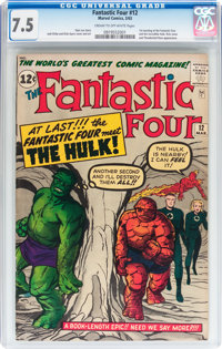 Fantastic Four #12 (Marvel, 1963) CGC VF- 7.5 Cream to off-white pages