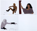 Animation Art:Production Cel, Fire and Ice Larn, Teegra and Nekron Production Cel andDrawing Group (Bakshi/20th Century Fox, 1983).... (Total: 6 Items)