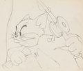 Animation Art:Production Drawing, Cat Fishing Tom Cat Animation Drawing (MGM, 1947)....