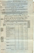 Autographs:Non-American, Personal Account Balance Sheet and Statement. April 1880. SignedWilliam Winn. Folded, with creases. Very good. From the c...