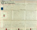 Autographs:Non-American, Land Deed in the Reign of Queen Victoria. October 25, 1872. BetweenEdward Westall and James John Brown, et al. Signed and w...