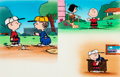 Animation Art:Production Cel, Charlie Brown's Two Minute Stories Golden Book Charlie BrownSnoopy Linus Production Cel Group (Bill Melendez/Simon an...(Total: 2 Original Art)