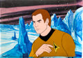 Animation Art:Production Cel, Star Trek Kirk Production Cel Setup and Master Background(Filmation, 1973).... (Total: 4 Original Art)