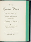 Books:Biography & Memoir, [World War II]. Lewis. H. Brereton. INSCRIBED. The BreretonDiaries. The War in the Air in the Pacific, Middle East and ...