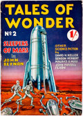 Books:Science Fiction & Fantasy, [British Pulps]. Tales of Wonder, No. 2. 1937. The second-ever issue of this British pulp series. Publisher's pr...