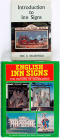 Books:Art & Architecture, [English Inn Signs]. Two Books about English Inn Signs. Various publishers and dates. Octavo and quarto. Original bindings a... (Total: 2 Items)